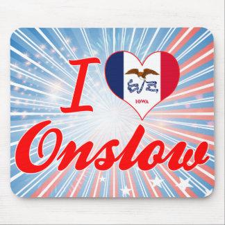 I Love Onslow, Iowa Mousepad