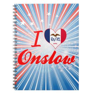 I Love Onslow, Iowa Spiral Note Books