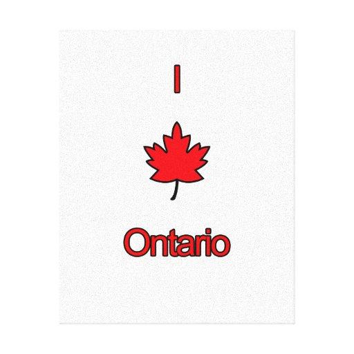 I Love Ontario Canvas Prints