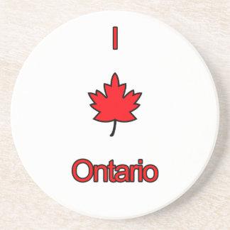 I Love Ontario Drink Coaster