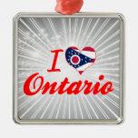 I Love Ontario, Ohio Christmas Ornament