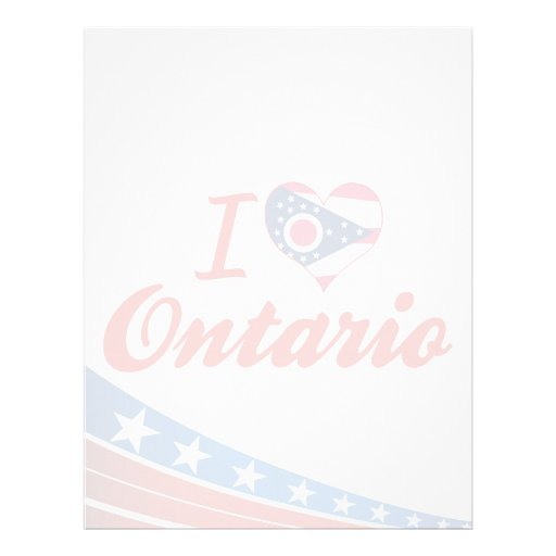 I Love Ontario, Ohio Custom Letterhead