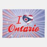 I Love Ontario, Ohio Kitchen Towels