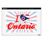 I Love Ontario, Ohio Laptop Skin