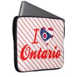 I Love Ontario, Ohio Laptop Sleeves