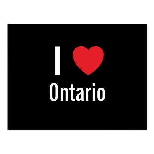 I love Ontario Postcard