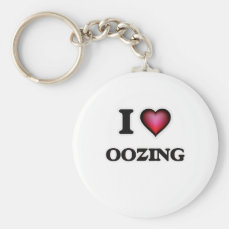 I Love Oozing Keychain