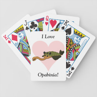 I Love Opabinia! Bicycle Playing Cards