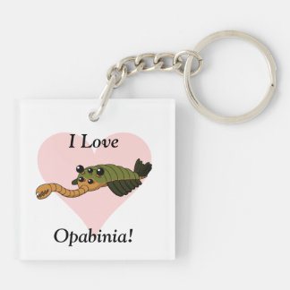 I Love Opabinia! Keychain