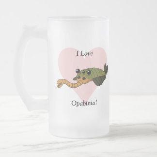 I Love Opabinia! 16 Oz Frosted Glass Beer Mug