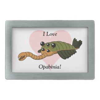 I Love Opabinia! Rectangular Belt Buckle
