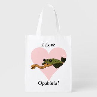 I Love Opabinia! Reusable Grocery Bag