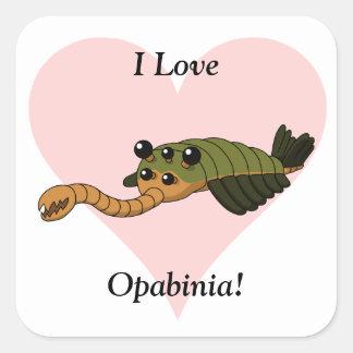 I Love Opabinia! Square Sticker