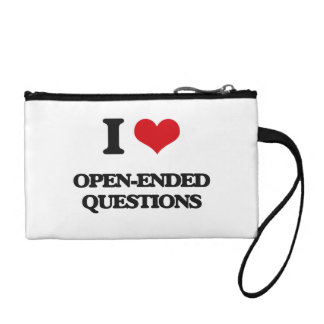 I Love Open-Ended Questions Coin Wallet