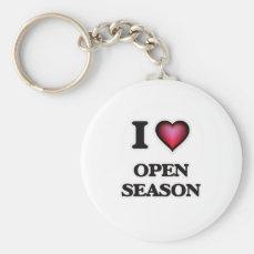 I Love Open Season Keychain