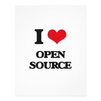 I Love Open Source Full Color Flyer