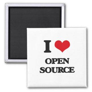 I Love Open Source Refrigerator Magnet