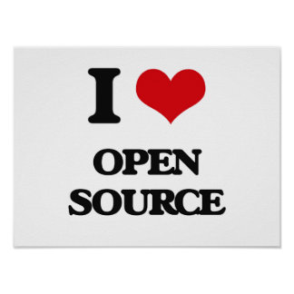 I Love Open Source Poster