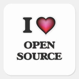 I Love Open Source Square Sticker