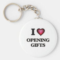 I Love Opening Gifts Keychain