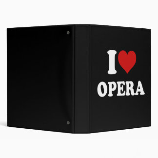 I Love Opera 3 Ring Binder