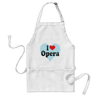 I Love Opera Adult Apron