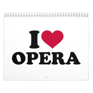 I love Opera Calendar