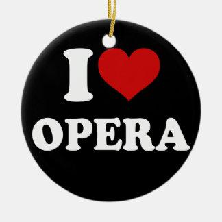 I Love Opera Ceramic Ornament