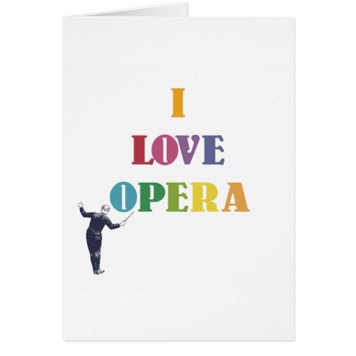 I Love Opera Greeting Card