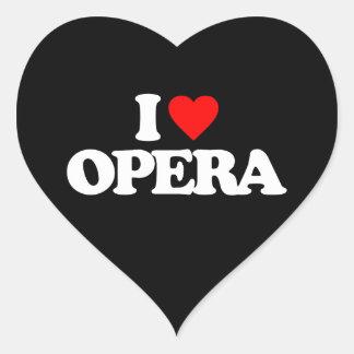 I LOVE OPERA HEART STICKER