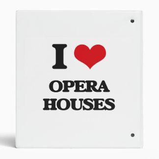 I Love Opera Houses Binder