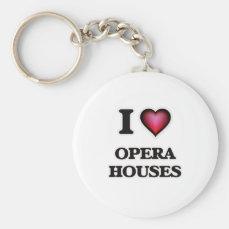 I Love Opera Houses Keychain