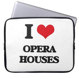 I Love Opera Houses Laptop Sleeves