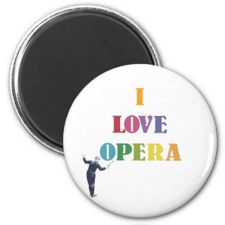 I Love Opera Refrigerator Magnet