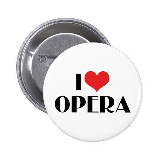 I Love Opera Pinback Buttons
