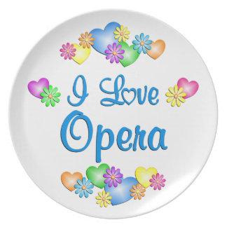 I Love Opera Party Plates