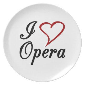 I Love Opera Dinner Plate