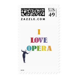 I Love Opera Postage Stamp