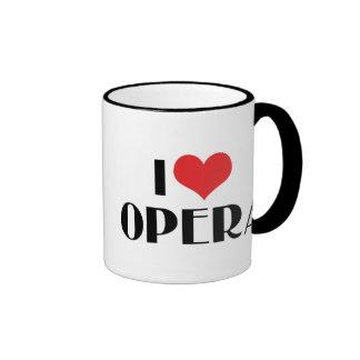I Love Opera Ringer Mug
