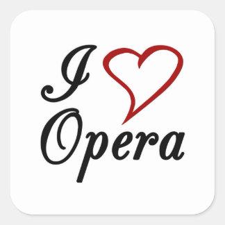 I Love Opera Square Sticker