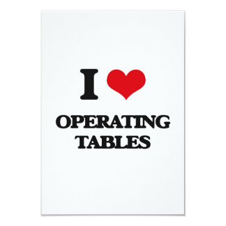 I Love Operating Tables Personalized Invitation