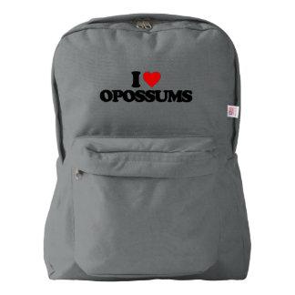 I LOVE OPOSSUMS BACKPACK