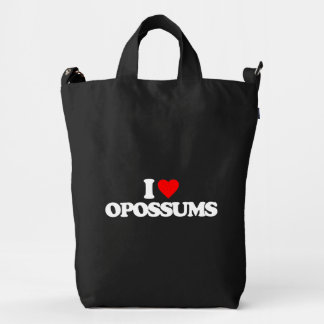 I LOVE OPOSSUMS DUCK BAG