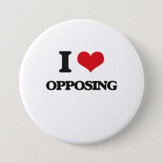I Love Opposing Pinback Button