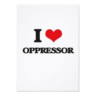 "I Love Oppressor 5"" X 7"" Invitation Card"