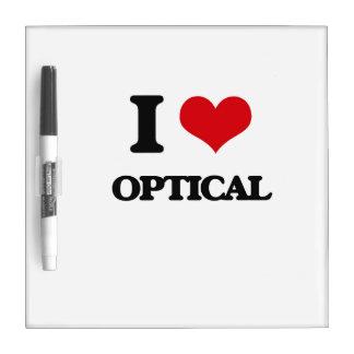 I Love Optical Dry-Erase Board