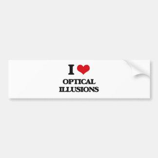 I Love Optical Illusions Bumper Sticker