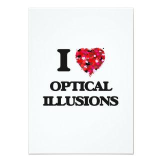 I Love Optical Illusions 5x7 Paper Invitation Card