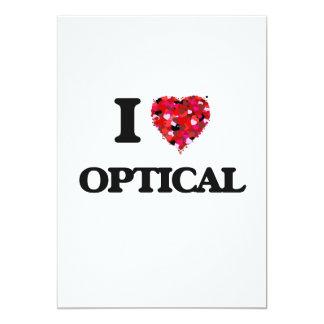 I Love Optical 5x7 Paper Invitation Card