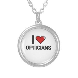 I love Opticians Round Pendant Necklace